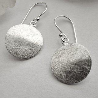 Tropfenförmige Ohrringe drei Tropfen Ohrhänger mit Haken 925 Sterling Silber NEU